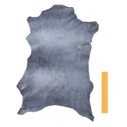 Peau Entière Cuir de Chèvre Bleu/Blanc Marbré