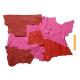 3 kg Chutes de Cuir Peau de Taurillon Rose et Rouge
