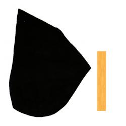 Croute de Cuir Peau Veau  Noir