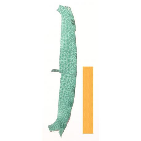 Peau Flanc de Crocodile Vert d'eau