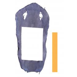 Peau de Raie Galuchat Bleu - chute entière