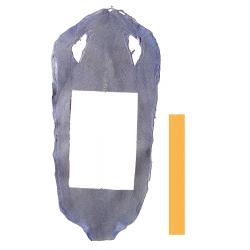 Peau de Raie Galuchat Bleu Bleuet- chute entière