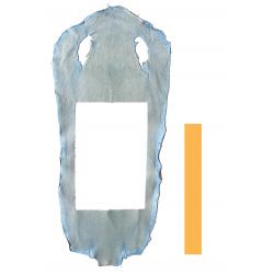 Peau de Raie Galuchat Bleu Pastel- chute entière