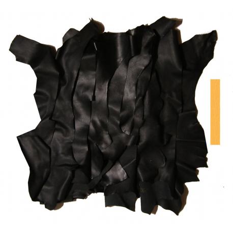 Lot 1 kg Chutes de Cuir Peau de Chèvre Noir