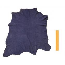 Peau Entière Cuir d'Agneau  Velours Bleu Jean