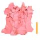 Lot 1 kg Chutes de Cuir Peau de Chèvre Rose