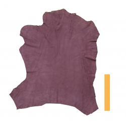 Peau entière cuir d'agneau violet lilas velours